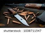 assult rifle ak47  bayonet and...