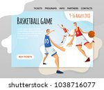 basketball players in abstract... | Shutterstock .eps vector #1038716077