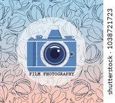 film photography vector logo... | Shutterstock .eps vector #1038721723