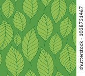leafy seamless background 8  ... | Shutterstock .eps vector #1038731467