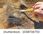 Stock photo a rare archeological find from the iron age 1038736753