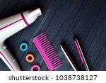 hair care instruments. beauty... | Shutterstock . vector #1038738127
