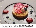 modern restaurant dessert...   Shutterstock . vector #1038744247