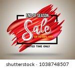 end of season sale on rectangle ...   Shutterstock .eps vector #1038748507