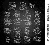 love lettering collection....   Shutterstock . vector #1038755173