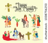religion holiday palm sunday... | Shutterstock .eps vector #1038756253
