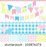 background,blue,brazilian party,card,cartoon,checked,cheerful,country,cute,decoration,dots,feast,flags,hearts,hillbilly
