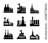 factory icon set | Shutterstock .eps vector #1038778033