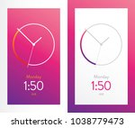 clock application pink ui...