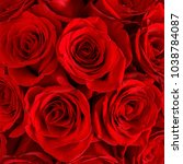 red roses flowers  background ...   Shutterstock . vector #1038784087