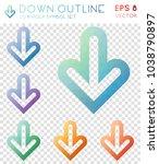 down outline geometric...   Shutterstock .eps vector #1038790897