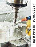 milling metalworking process.... | Shutterstock . vector #1038791317