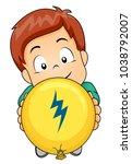 illustration of a kid boy... | Shutterstock .eps vector #1038792007