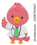 illustration of an avian doctor ...   Shutterstock .eps vector #1038792067