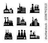 factory icon set | Shutterstock .eps vector #1038792313