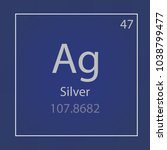 silver ag chemical element icon ... | Shutterstock .eps vector #1038799477