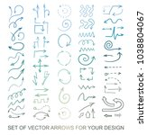 different black arrows icons ... | Shutterstock .eps vector #1038804067