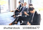business people waiting for the ... | Shutterstock . vector #1038806677