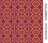 monochrome ethnic pattern with...   Shutterstock .eps vector #1038807553