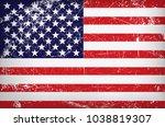 vector grunge flag of the... | Shutterstock .eps vector #1038819307