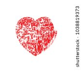 heart . grunge stamp.love... | Shutterstock .eps vector #1038819373
