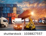logistics and transportation of ... | Shutterstock . vector #1038827557