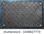 steel metal plate  industrial...   Shutterstock . vector #1038827773