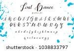 handwritten calligraphy font.... | Shutterstock .eps vector #1038833797