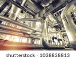 equipment  cables and piping as ... | Shutterstock . vector #1038838813