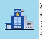 city police station department... | Shutterstock .eps vector #1038840577