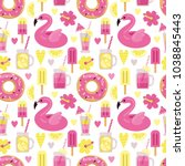 a bright vector pattern with... | Shutterstock .eps vector #1038845443
