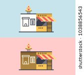 italian food restaurant. vector ... | Shutterstock .eps vector #1038856543