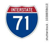 interstate highway 71 road sign | Shutterstock .eps vector #1038858613