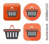 shopping basket icon  ... | Shutterstock .eps vector #1038862123