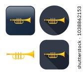 trumpet icon   music instrument ... | Shutterstock .eps vector #1038862153