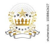 royal crown emblem. heraldic... | Shutterstock .eps vector #1038862627