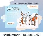 jazz music festival  quartet in ...   Shutterstock .eps vector #1038863647
