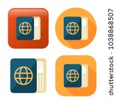 passport and ticket icon  ... | Shutterstock .eps vector #1038868507