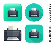 printer icon   print symbol  ... | Shutterstock .eps vector #1038868513