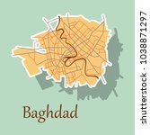 baghdad city map   iraq.... | Shutterstock .eps vector #1038871297