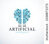 artificial intelligence concept ... | Shutterstock .eps vector #1038871573