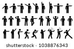 stick figures of a person... | Shutterstock .eps vector #1038876343