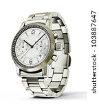 luxury watch isolated on a... | Shutterstock . vector #103887647