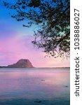 fantastic sunset sky on the... | Shutterstock . vector #1038886027