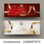 grand opening invitation cards... | Shutterstock .eps vector #1038897073