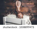 delicious chocolate easter... | Shutterstock . vector #1038899473