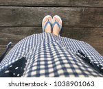 blue shoes isolated on wood... | Shutterstock . vector #1038901063