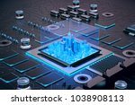 3d illustration of futuristic... | Shutterstock . vector #1038908113