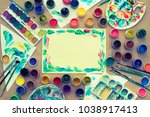 decorative composition frame... | Shutterstock . vector #1038917413