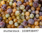 colorful mixed grapes before... | Shutterstock . vector #1038938497